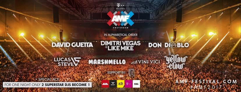 FULL LINE UP Amsterdam Music Festival 2017