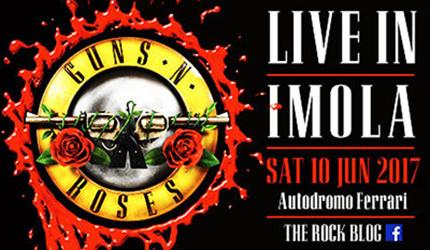 I Guns N' Roses in concerto a Imola il 10 giugno