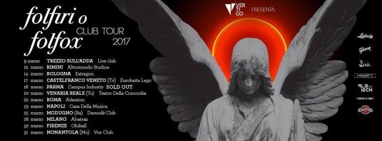 """VERTIGO PRESENTA: AFTERHOURS – IL TOUR NEI CLUB DI """"FOLFIRI O FOLFOX"""""""