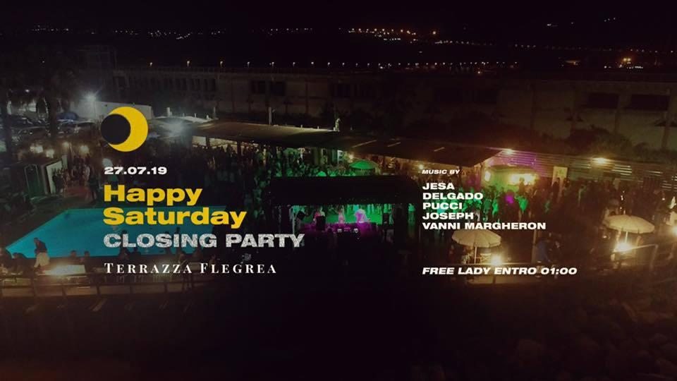 Happy Saturday Closing Party At Terrazza Flegrea Party